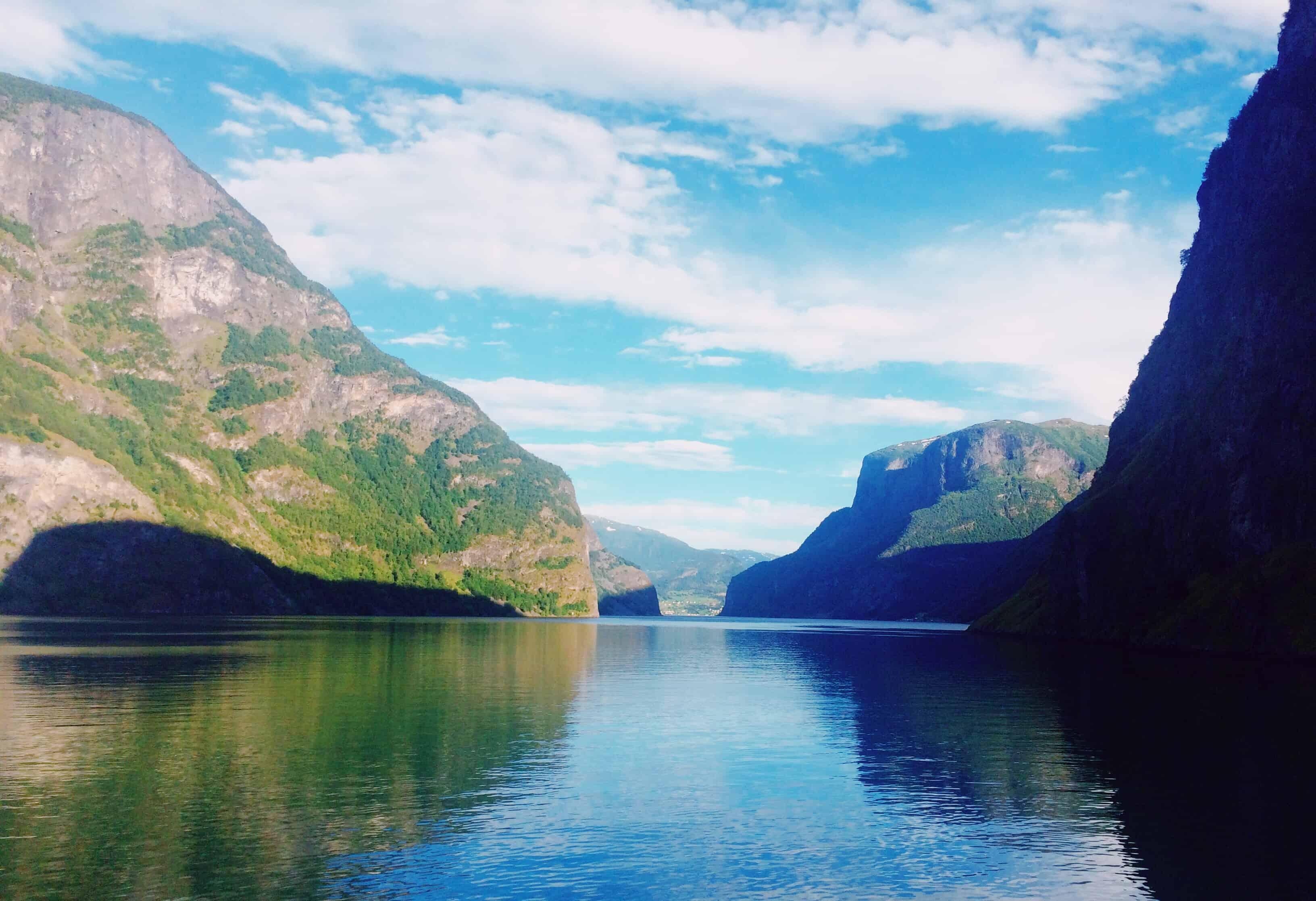 Vedere i fiordi in Norvegia