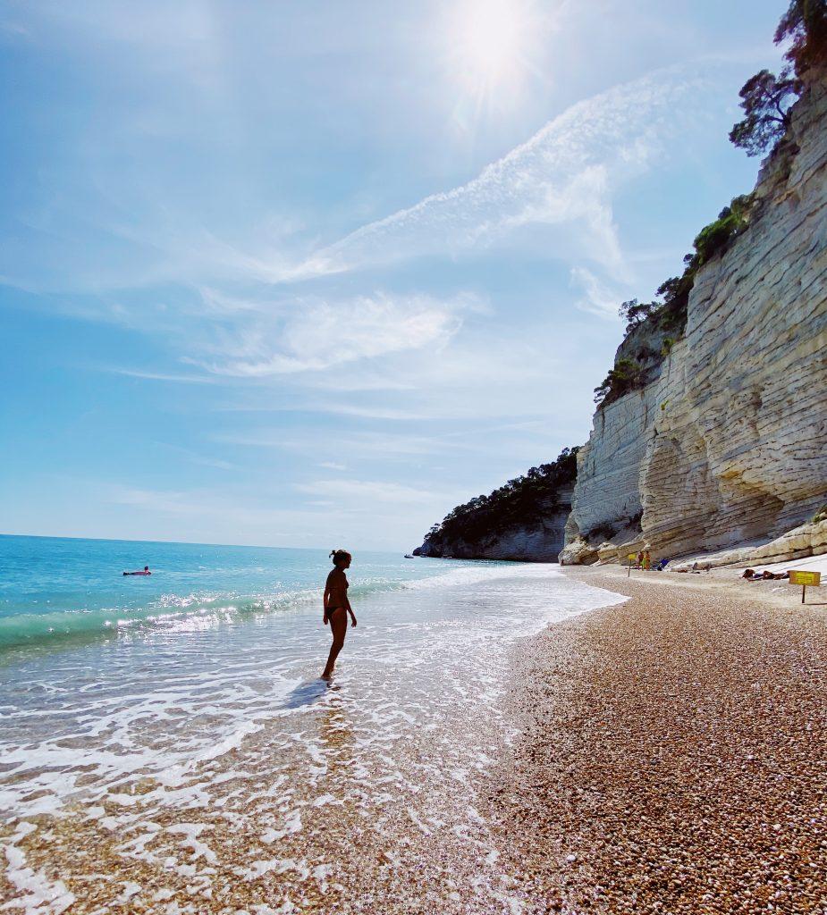 Baia delle Zagare nel Gargano in Puglia